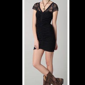 Free People Black Lace Envy Bodycon Mini Dress